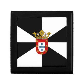 Flagge Ceutas (Spanien) Schmuckschachtel