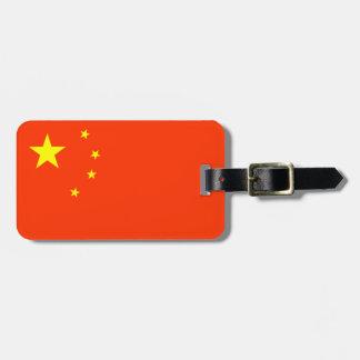 Flagge China-des personalisierten Gepäck-Umbaus Kofferanhänger
