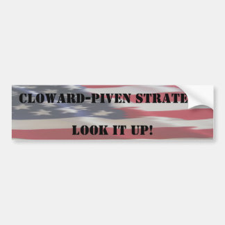 Flagge, Cloward-Piven StrategyLook es oben, Autoaufkleber