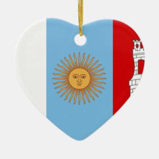 Flagge Cordobas, Argentinien Keramik Ornament