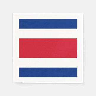 Flagge: Costa Rica Serviette