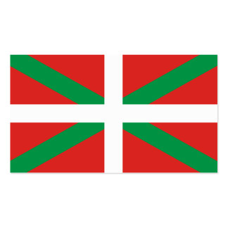 Flagge der Baskenland-Visitenkarten Visitenkarten