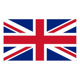 Flagge der BRITISCHEN Visitenkarten