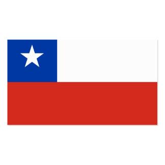 Flagge der Chilegeschäftskarten Visitenkarten
