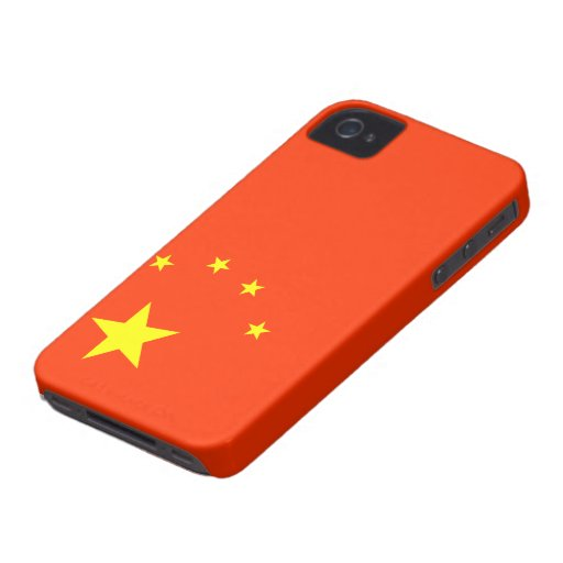 Flagge der China-BlackBerry-mutigen Hüllen iPhone 4 Hülle