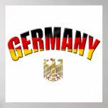Flagge der deutschen Hemden und der Geschenke Poster