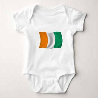 Flagge der Elfenbeinküste - die Elfenbeinküste Baby Strampler