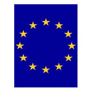Flagge der europäischen Gewerkschaft Postkarte