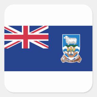 Flagge der Falklandinseln - Gewerkschafts-Jack Quadratischer Aufkleber