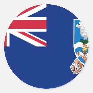 Flagge der Falklandinseln - Gewerkschafts-Jack Runder Aufkleber
