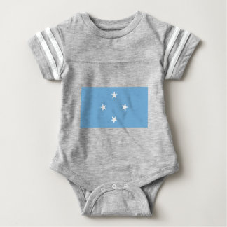 Flagge der Federated States of Micronesia Baby Strampler