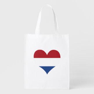Flagge der Holländer auf Metallhintergrund