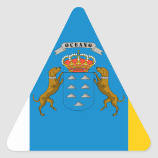 Flagge der Insel-(Spanien) Dreieckiger Aufkleber