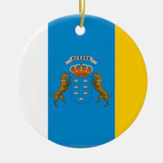 Flagge der Insel-(Spanien) Keramik Ornament