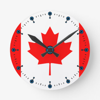 Flagge der Kanada-Ahornblatt-Wanduhr Runde Wanduhr
