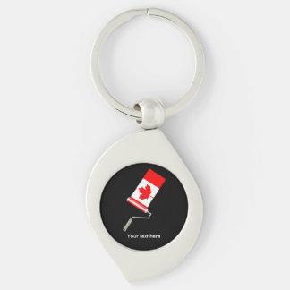 Flagge der Kanada-Farben-Rolle Schlüsselanhänger