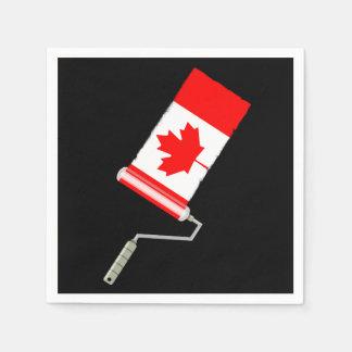 Flagge der Kanada-Farben-Rolle Servietten