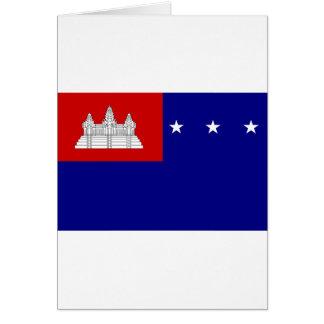 Flagge der Khmer-Republik (សាធារណរដ្ឋខ្មែរ) Karte