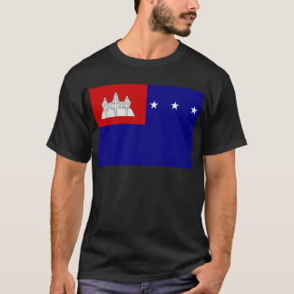 Flagge der Khmer-Republik (សាធារណរដ្ឋខ្មែរ) T-Shirt