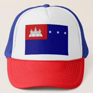 Flagge der Khmer-Republik (សាធារណរដ្ឋខ្មែរ) Truckerkappe