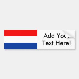 Flagge der Niederlande Autoaufkleber