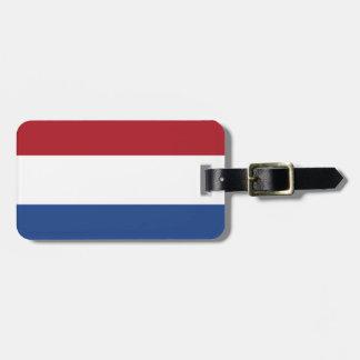 Flagge der niederländischen einfachen kofferanhänger