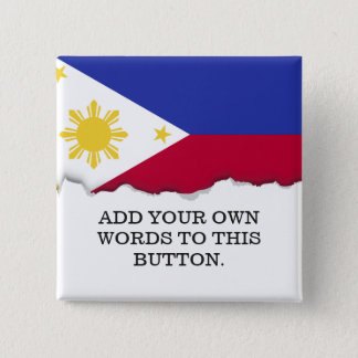 Flagge der Philippinen Quadratischer Button 5,1 Cm