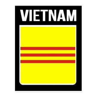 Flagge der Republik von Vietnam Cờ vàng Ba sọc đỏ Postkarte