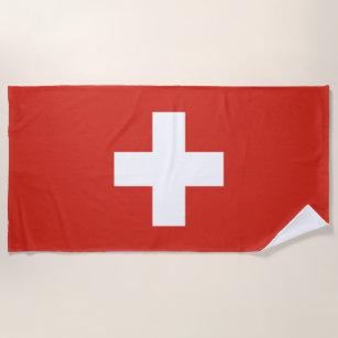 Flagge der Schweiz Strandtuch