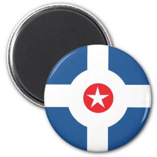 Flagge der Stadt von Indianapolis Runder Magnet 5,7 Cm