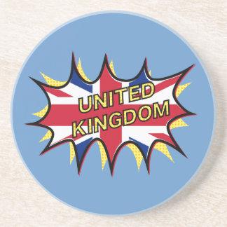 Flagge der Sternexplosion Vereinigten Königreichs Sandstein Untersetzer