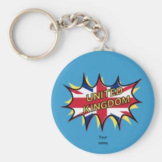 Flagge der Sternexplosion Vereinigten Königreichs Schlüsselanhänger
