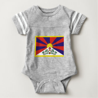 Flagge der Tibet- oder Schnee-Löwe-Flagge Baby Strampler