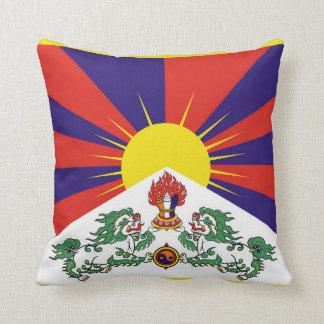 Flagge der Tibet- oder Schnee-Löwe-Flagge Kissen
