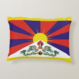 Flagge der Tibet- oder Schnee-Löwe-Flagge Zierkissen