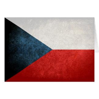 Flagge der Tschechischen Republik Mitteilungskarte
