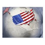 Flagge der USA Postkarte
