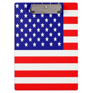 Flagge der USA Vereinigte Staaten Klemmbrett