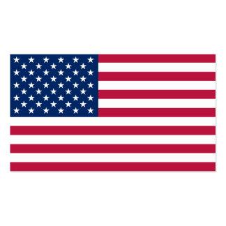 Flagge der USA Visitenkarten