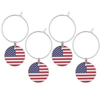 Flagge der Vereinigten Staaten Weinglas Anhänger