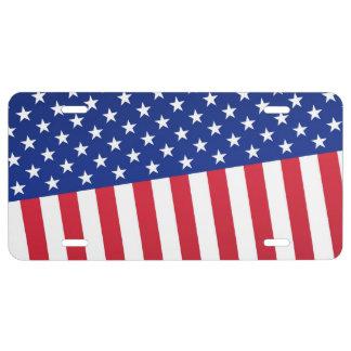 Flagge des abstrakten Entwurfs USA US Nummernschild