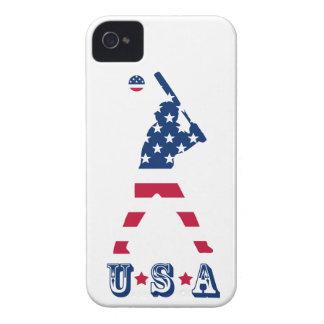 Flagge des Amerika-Baseball-Amerikaners iPhone 4 Hülle