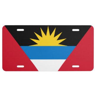 Flagge des Antigua und Barbuda-Kfz-Kennzeichens US Nummernschild