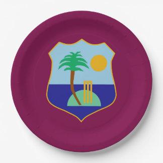 Flagge des Antillen-Krickets Pappteller