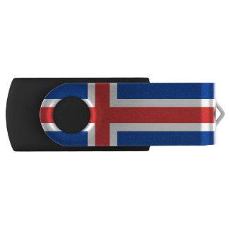 Flagge des Blitz-Antriebs Islands USB Swivel USB Stick 2.0