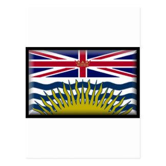 Flagge des Britisch-Columbia-(Kanada) Postkarte