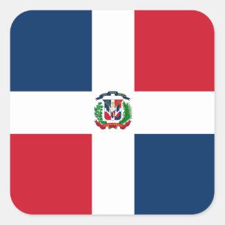 Flagge des Dominikanische Republik-Aufklebers Quadratischer Aufkleber