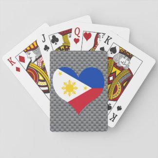 Flagge des Filipinos auf Metallhintergrund