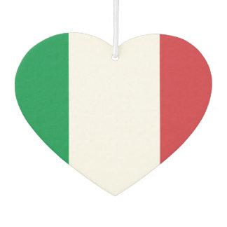 Flagge des Italieners auf Metallhintergrund Autolufterfrischer
