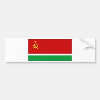Flagge des litauischen SSR - Lietuvos TSR Veliava Autoaufkleber